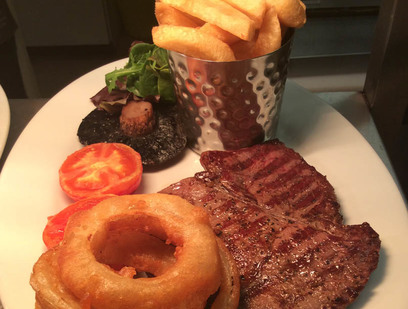 Our steak & chips dish
